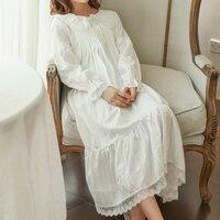 Princess sweet lolita pajamas Summer Palace lantern long sleeve cotton Thin pajamas SQ09