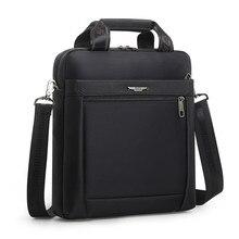 Мужской маленький портфель, вертикальная Сумка для документов, сумка на одно плечо для IPAD 12 дюймов, водонепроницаемый нейлоновый мессенджер