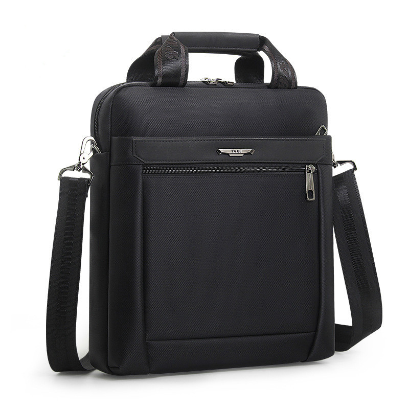 Men Small Briefcase Vertical Document Pack Men's Single Shoulder 12-inch IPAD Bag Male Waterproof Nylon Messenger Bag Sac Homme