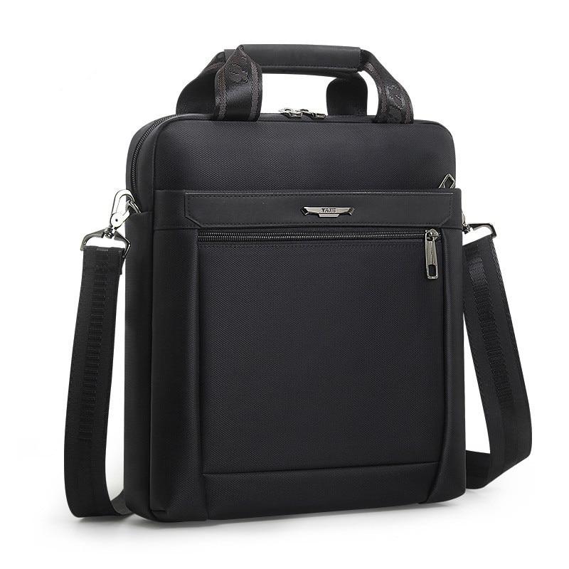 Men Small Briefcase Vertical Document Pack Men's Single Shoulder 12-inch IPAD Bag Male Waterproof Nylon Messenger Bag Sac Homme