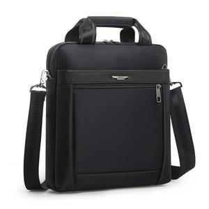 Image 1 - Men Small Briefcase Vertical Document Pack Mens Single Shoulder 12 inch IPAD Bag Male Waterproof Nylon Messenger Bag Sac Homme