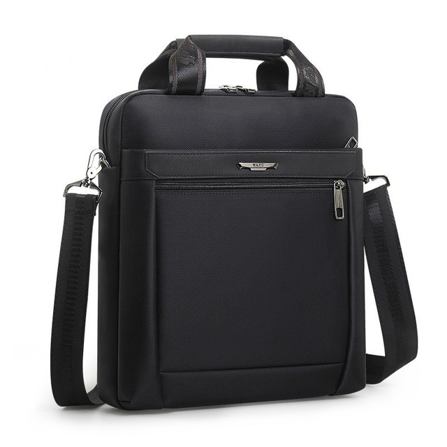 Men Small Briefcase Vertical Document Pack Mens Single Shoulder 12 inch IPAD Bag Male Waterproof Nylon Messenger Bag Sac Homme