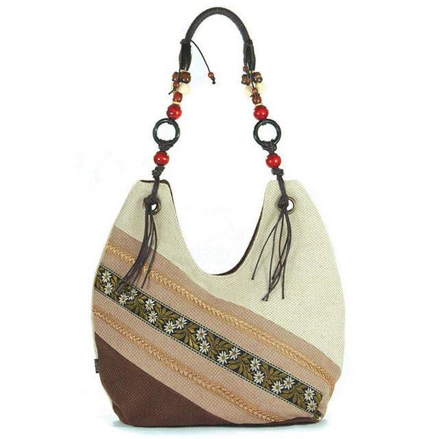 Linen Woman Bag Vintage Hmong Tribal Ethnic Handbags Thai Indian Women S Messenger Bags Embroidery Fashion Leisure