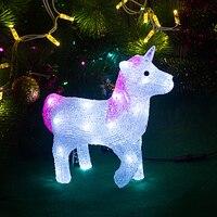 Cute 3D Unicorn decoration lighting 29cm Tall christmas decoration idea gift xmas lights wedding decoration holiday lighting