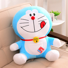 anime figure naughty tougue-out Doraemon plush toy 25cm doll baby toy ,birthday present Xmas gift c905