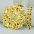 6.9CM / Big Metal Coin Necklaces Women/Men,Napoleon Coins Pendant Necklaces Arab Jewelry,African Wedding Gifts Ethiopian #008912