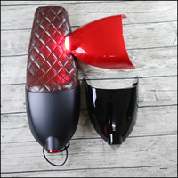 Vintage motorcycle cushion brown Cafe Racer Seat refit motorcycle seat with cover and tail light