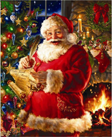 Full Diamond Embroidery 5D DIY Christmas Santa Claus Diamond PaintingRhinestone Mosaic Home Decoration