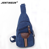 Men's Canvas Travel Riding Shoulder Back pack Sling Chest package Cross Body Bags Vintage Daypack Trendy