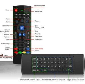 Image 3 - TK3 2.4G Wireless Fly Air Mouse Tastiera Russa Inglese 44 IR di Apprendimento Vocale per Android Smart TV Box PK MX3 G30 A Distanza di controllo