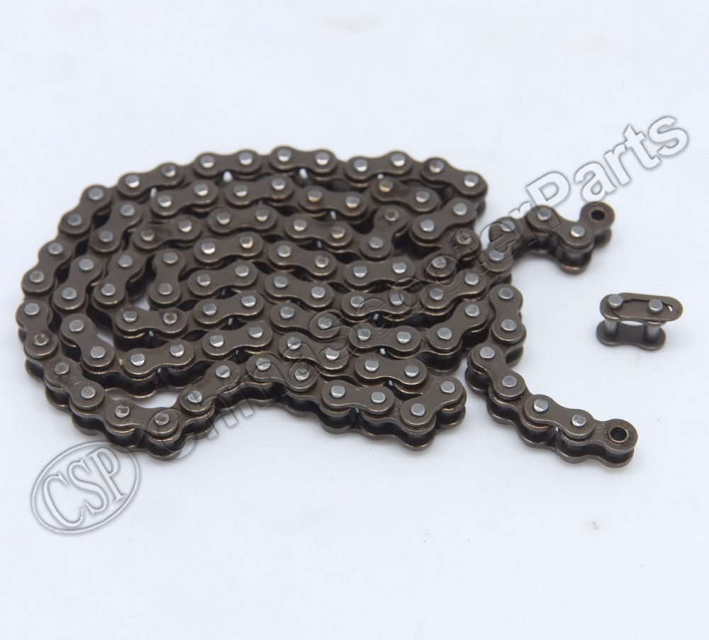 144 25H chain with Spare Master Link 47cc 49cc 2 Stroke Engine ATV Quad Go Kart Dirt Pocket Mini Motor Bike Motorcycle section 49cc pocket bike 2 stroke pull start engine for mini go kart dirt bike petrol scooter atv pocket bike motor motocross fdj 001