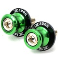green  color Motorcycle Accessories CNC Swingarm Sliders Spools slider stand screws  For Kawasaki Z1000 z 1000 Z1000sx Z1000abs