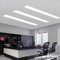 Встраисветодио дный ваемые светодиодные полосы света прямоугольный офисный потолочный светильник балкон крыльцо свет коридор конза свето
