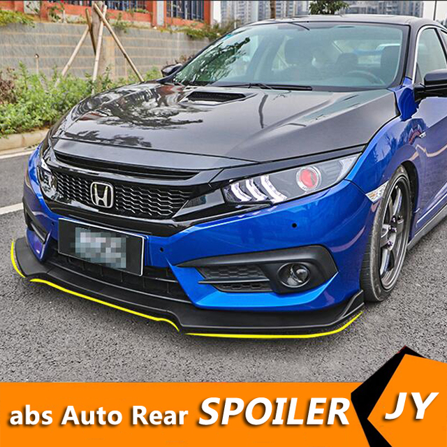 For Honda Civic Abs Rear Bumper Diffuser Protector For 2016 2018 Civic Body Kit Bumper