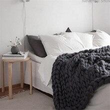 Новинка, топ, показ, не сужающийся книзу трикотажное одеяло с намоткой на руку, Исландская пряжа, шерсть, очень теплая