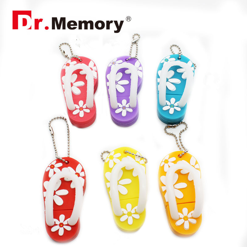Pendrive cartoon flower slipper Usb flash driver usb Stick 2GB 4GB 8GB 16GB 32GB/64gb Memory stick