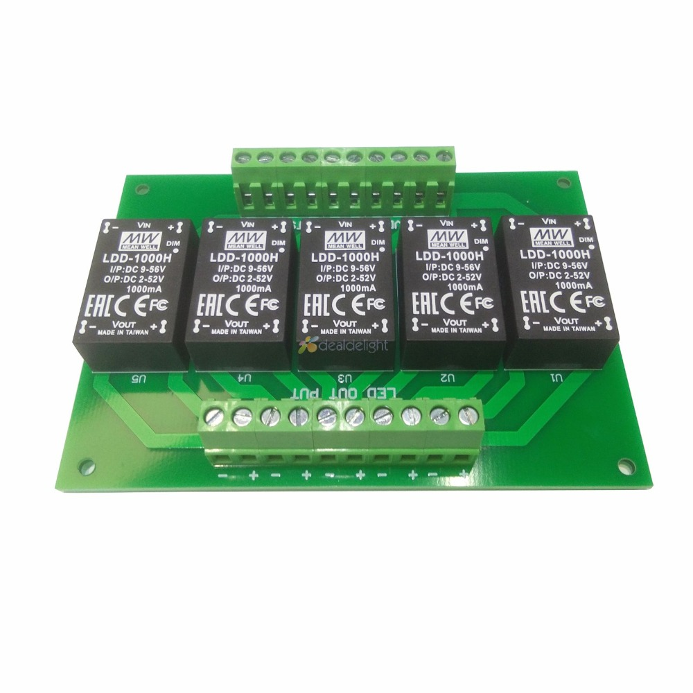 5pcs meanwell ldd-1000h led driver 1000mA