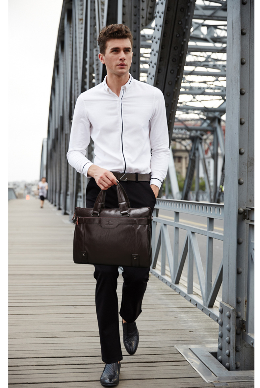 marca canguru homens de couro Main Material : Leather +pu
