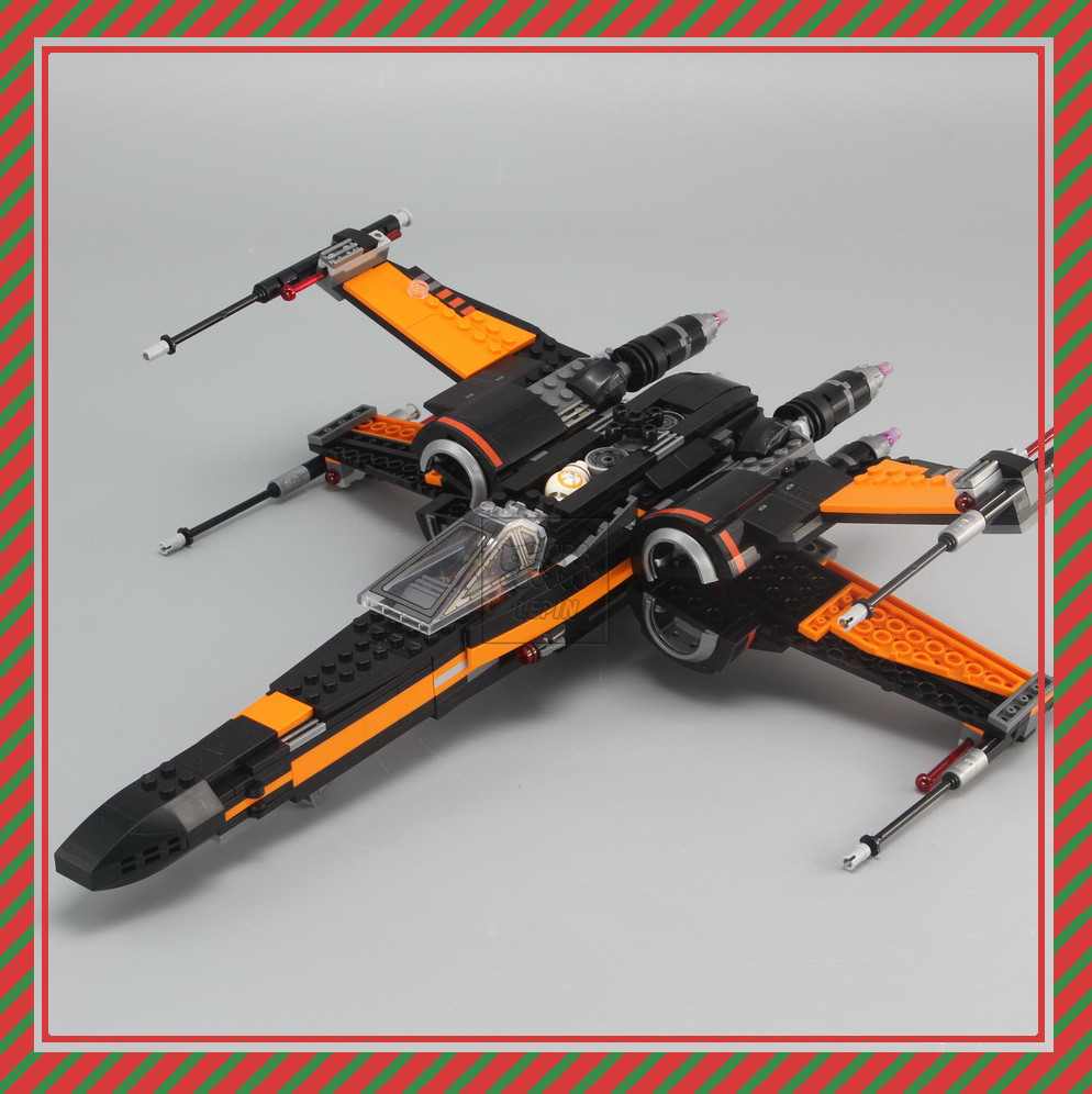 New Lepin Building Blocks 05004 Model Star Poe's X Wing Fighter 75102 Compatible Bricks Figure Toys For Children gift boy 2015 high quality spaceship building blocks compatible with lego star war ship fighter scale model bricks toys christmas gift