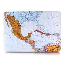 """Mapa Del Mundo de Diseño clásico Cuerpo Portátil Cáscara Dura Protectora para Macbook Air 11 """"13""""/Pro 13 """"15""""/Pro Retina 12 13 A1278 15"""