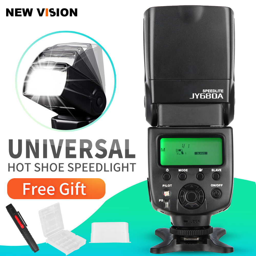 VILTROX JY 680A Universal LCD Flash Speedlight for Canon Nikon Pentax Olympus Cameras with Free Bounce