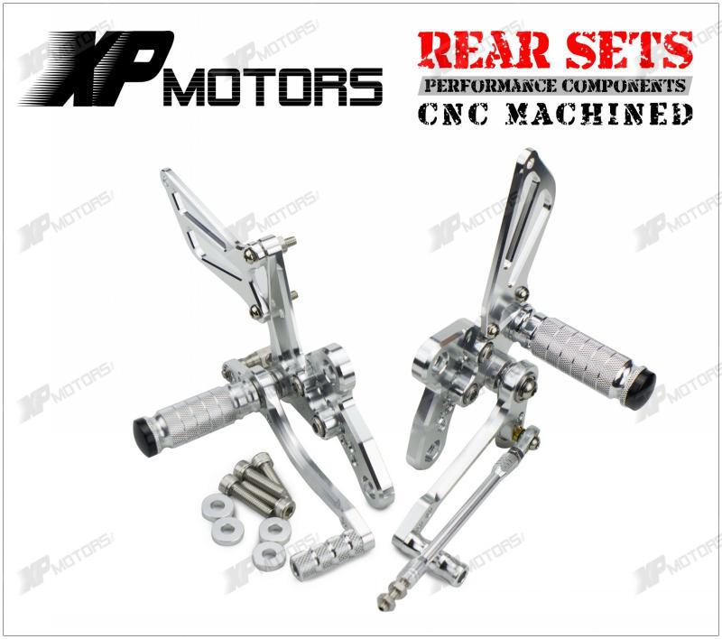 New Racing CNC Adjustable Foot Pegs Rear Sets For Suzuki