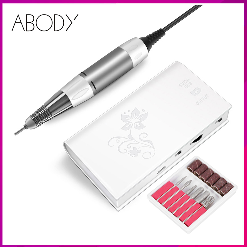 Abody Cordless Manicure Machine Electric Nail Drill Machine Milling Cutter For All Manicure Set Nail Art