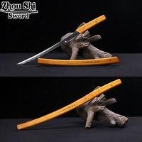 New Katana Sword Samurai sword Handmade Metal steel Solid wood yellow scabbard Home decorations sword