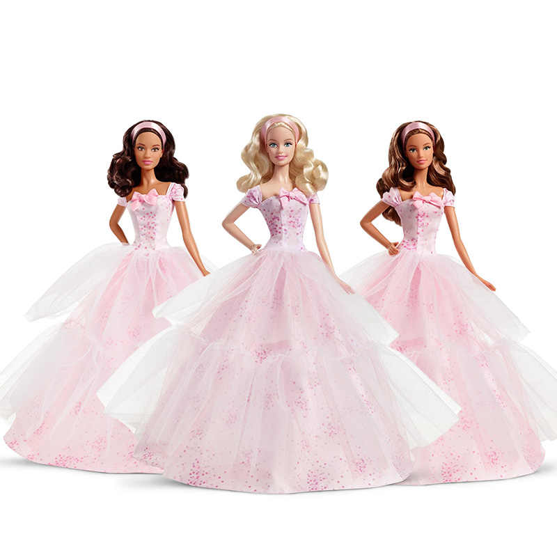Genuine Barbie 2016 Birthday Wishes Princess Girls Toys Christmas