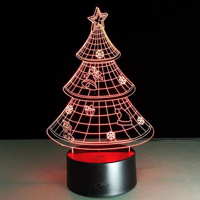Упаковка из 40 шт. Рождественский Подарок рамка Сенсорный экран 3D иллюзия Светодиодная вспышка света игрушка в подарок в коробке через DHL.