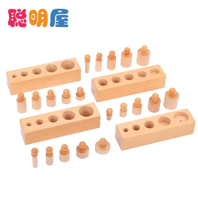 Free Shipping Hot sale wooden toy Montessori education cylinder socket baby teaching toy math development senses teaching aids