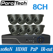 A801E8C AHD cctv system 8channel dvr with eight digicam infrared evening imaginative and prescient monitor safety CCTV digicam go well with for indoor outside