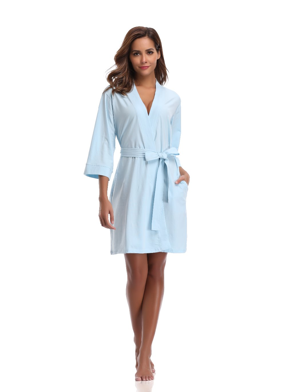 Hot Sale Cotton Bridesmaid Robes Dressing Gowns For Women Knit Bath