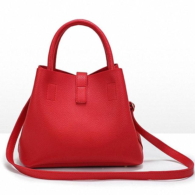 Women's Handbags Fashion Shoulder Bags Ladies Totes Simple Women PU Tote Bag 3