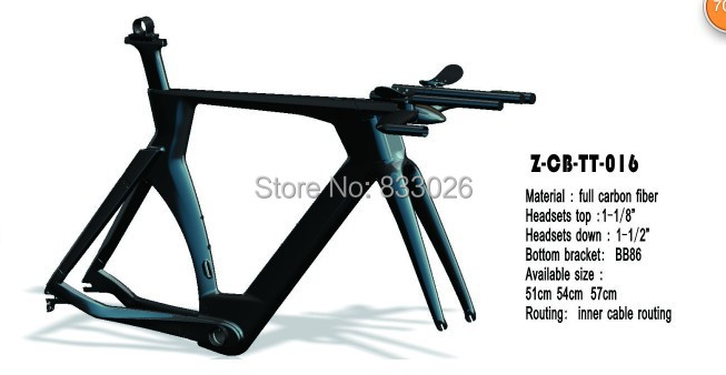 Newest Model Carbon Time Trial Frame Carbon tt frame with Time Trial handlebar for sale цена