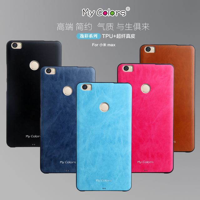 new style a8fcb 0ce07 US $5.99 |For Xiaomi Mi Max Case Cover TPU + PU Leather Back Covers For  Xiaomi Mi Max Cases 6.44