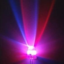 100 шт. 2PIN 3 мм RGB 7 цветов медленная вспышка светодиодный светильник(светодиодный) новые продукты и ROHS 3 мм RGB 7 цветов медленная вспышка светодиодный