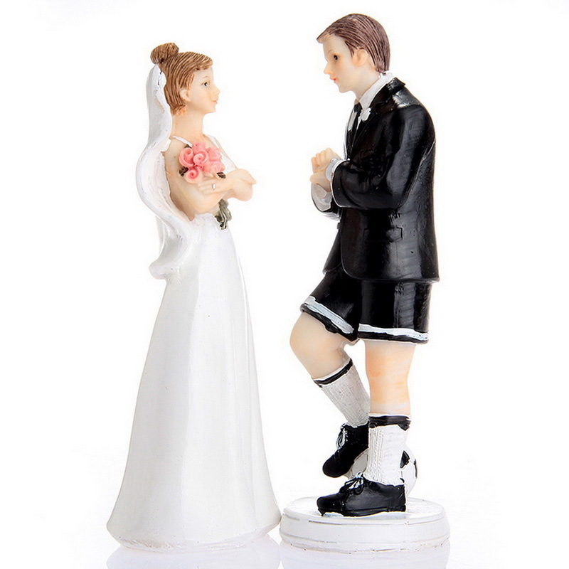 Bride and Groom soccer Football sport Funny Figurine Wedding Cake Topper Personalised Event Party Supplies Marriage
