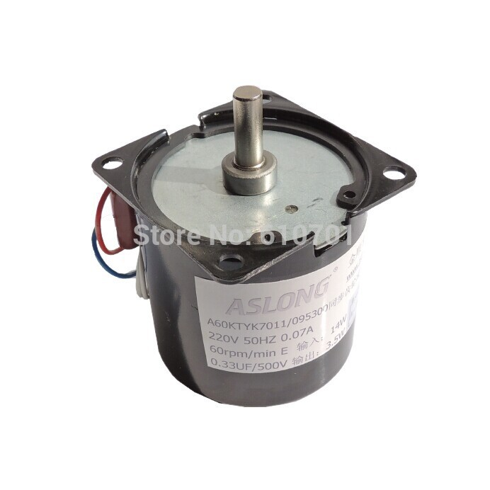 цена на Center axle 220VAC Rotate Speed Reduction Electric AC Gear reduction synchronous motor 60KTYZ 14W 50Hz CW/CCW