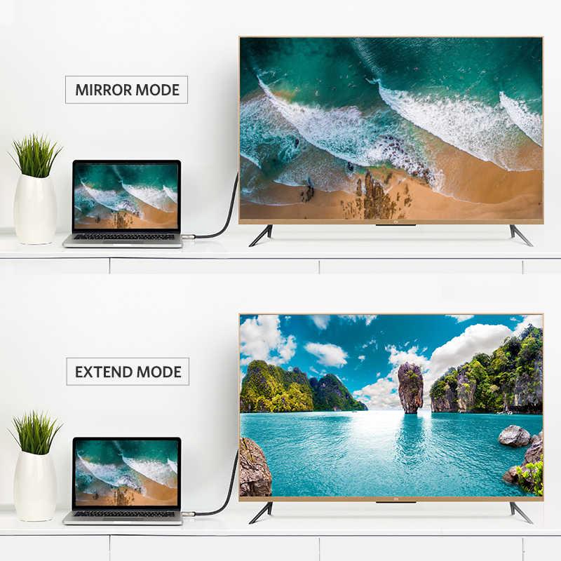 Ugreen ديسبلايبورت كابل 144Hz عرض ميناء كابل 1.2 4K 60Hz ل HDTV بطاقة جرافيكس العارض ديسبلايبورت إلى كابل ديسبلايبورت