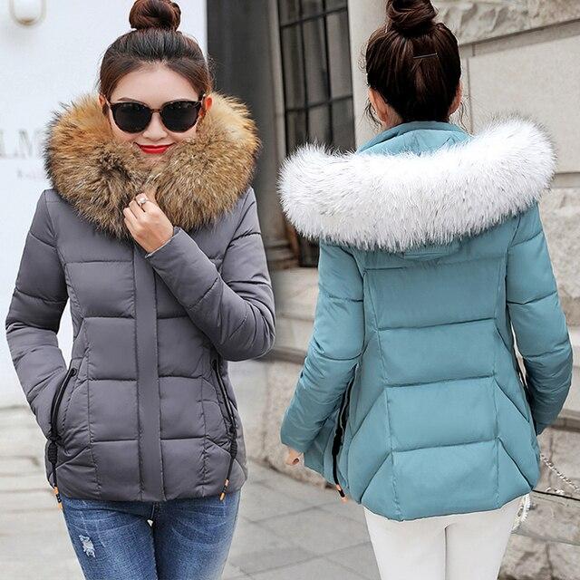 2019 зимние куртки женские модные куртки женские зимние пальто 2019 женский  пуховик женские парки искусственный мех 4e13e740e99c0