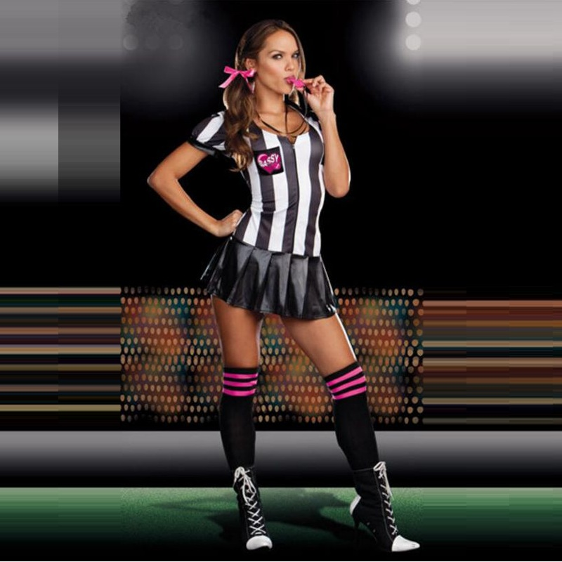 Euro Cup Fantasy Soccer Adult Girl Sexy Women Cheerleader Team Set Suit Deep V Ball Fan CLothing Elegant cheering Squad Costumes