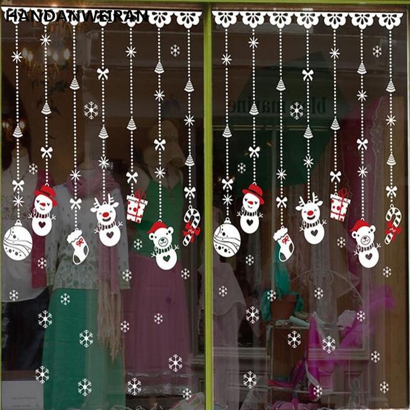 kerst winkel raamdecoratie kerst stickers stickers glas