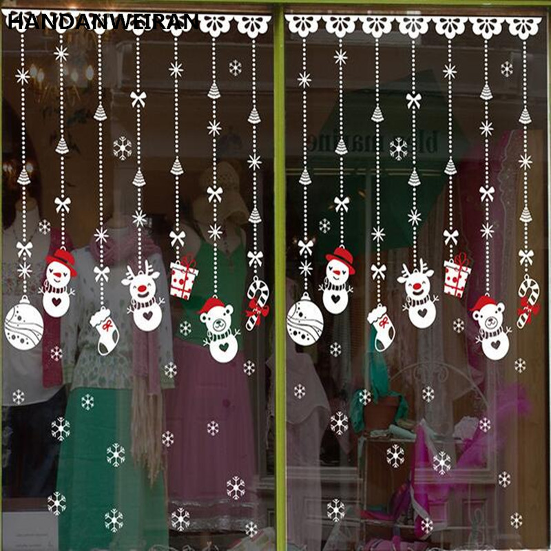 Top Moderne creatieve sneeuwpop bead gordijn Kerst raamdecoratie CM07