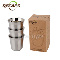 3pcs Pack Pixie Nespresso Espresso Stainless Steel Coffee Nescafe Dolce Gusto Double Wall Thermo Capsule Coffee