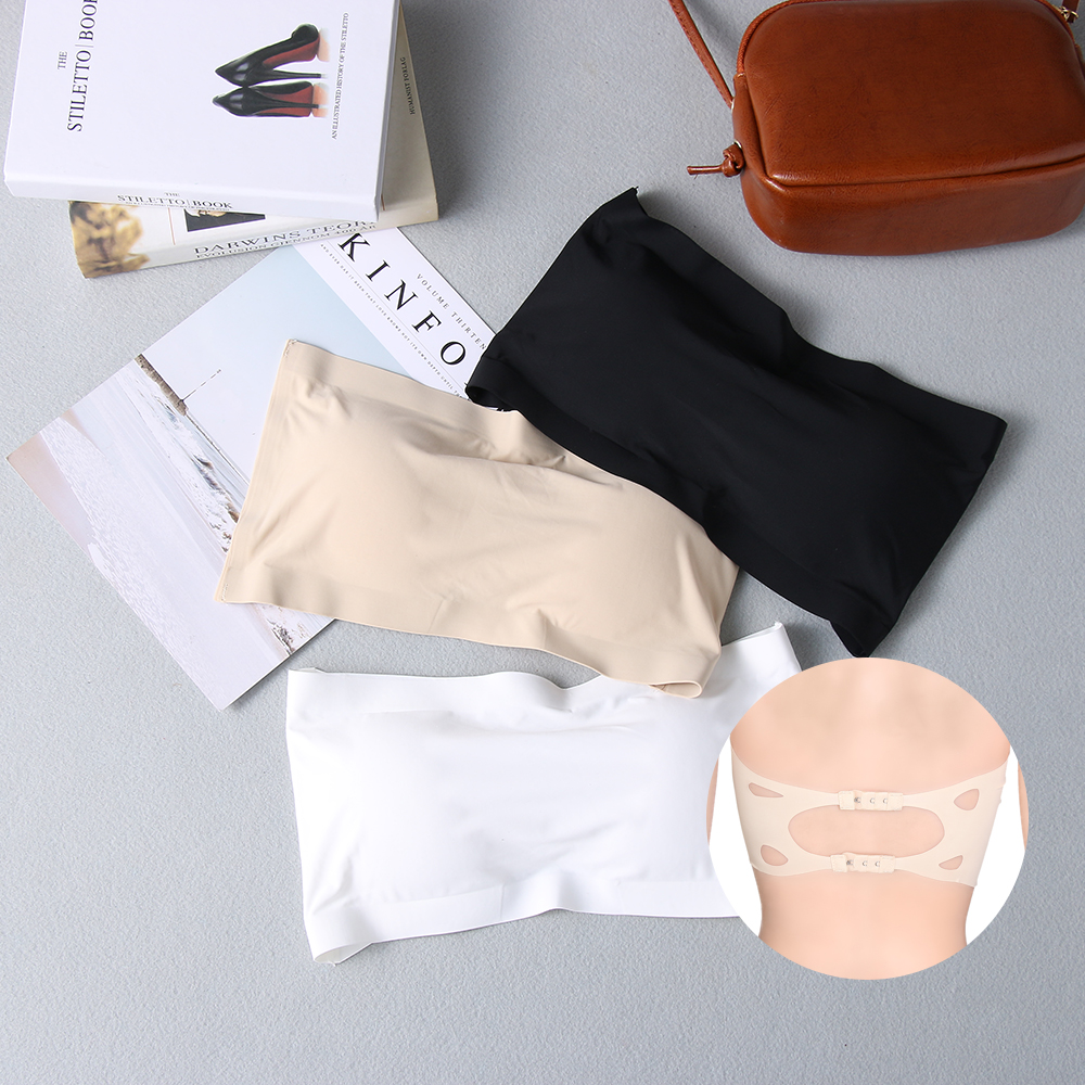 New Soft Ice Silk Women Tube Tops Black White Sexy Comfortable Casual Tops for Summer Spring Underwear Tubes Top