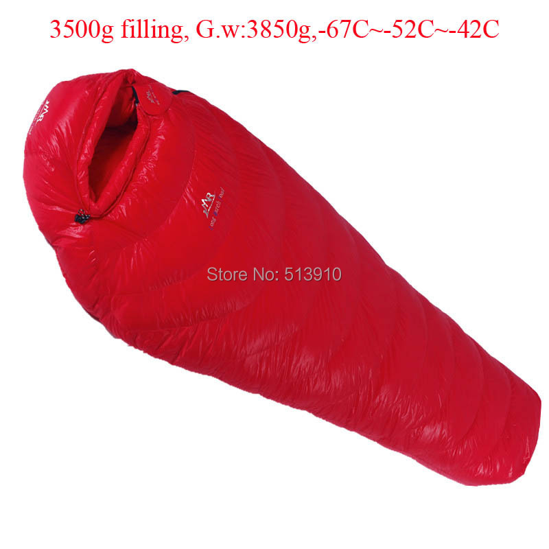 3500g Filling -67C~-42C! Ultra-light down outdoor goose down sleeping bag outdoor adult breathable thickening sleeping bag goose down 400g filling 6c 13c ultra light down outdoor goose down sleeping bag outdoor adult breathable thicken sleeping bag