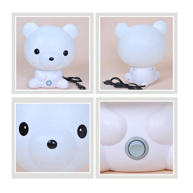 Luz de noche de dibujos animados oso panda lindo lámpara de mesa de escritorio LED niños regalos para bebé lámpara de sueño para dormitorio cabecera decoración de iluminación interior