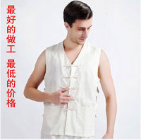 Chinese Style Tang Suit Cotton Sleeveless Vest Male Old Coarse Summer Men S National Clothes Tops