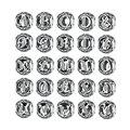 Bamoer authentic 925 sterling silver vintage a a t, limpar CZ Contas Letra Do Alfabeto Encantos Fit Pulseiras PSC008